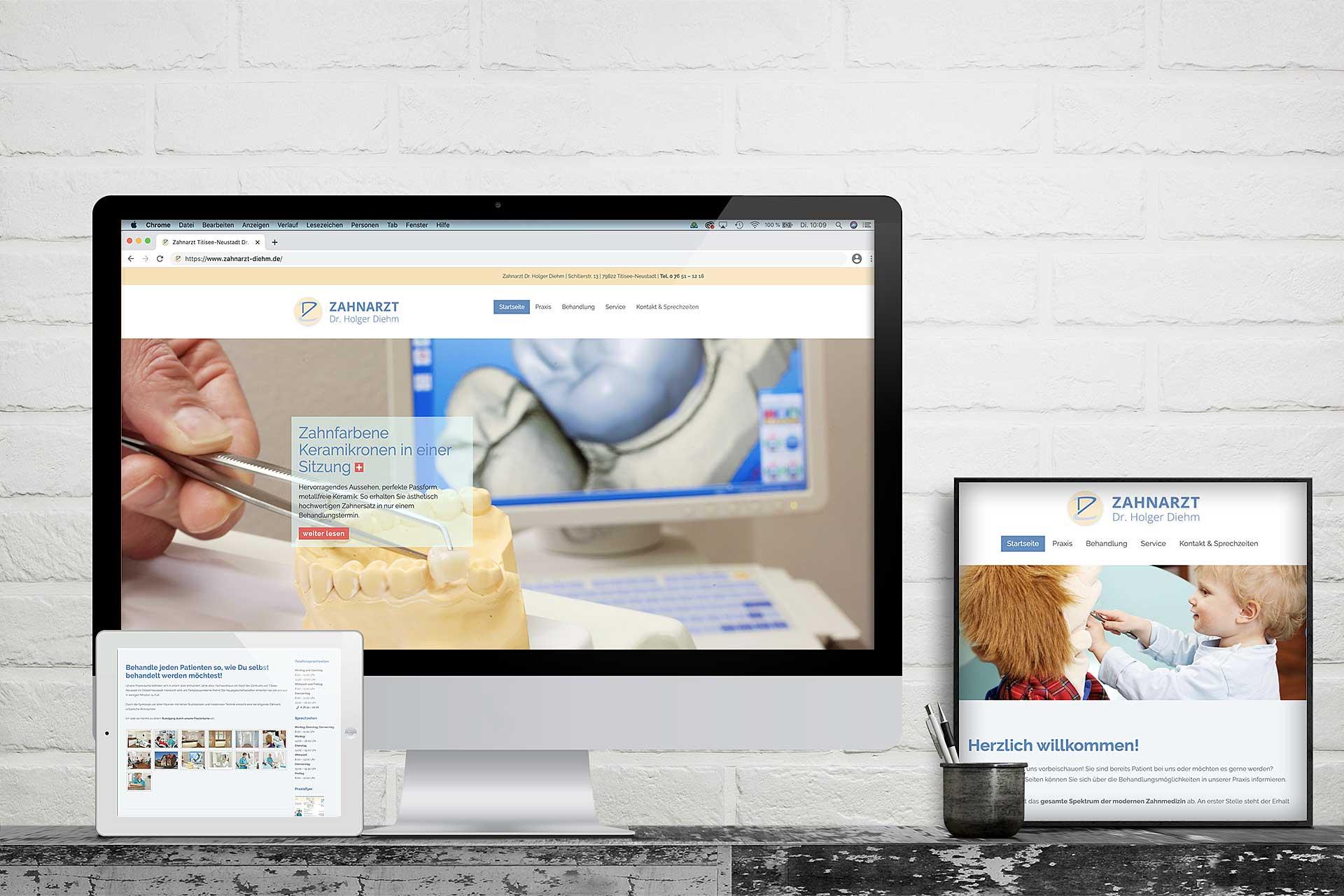 website zahnarzt dr diehm